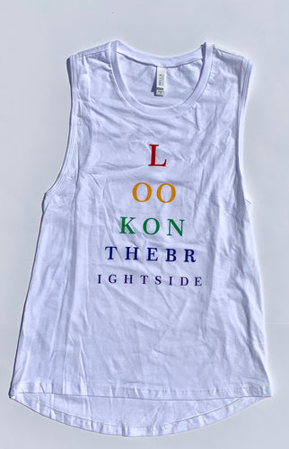 Look on the Bright Side Rainbow Tank Women's