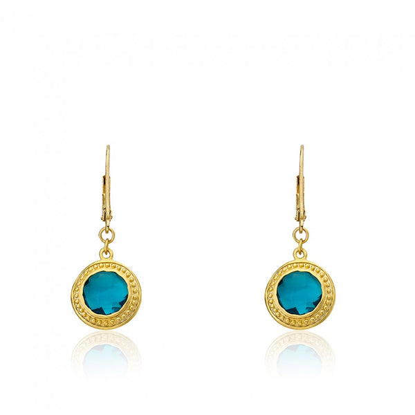 ARCTIC MIST Circle Leverback Earrings