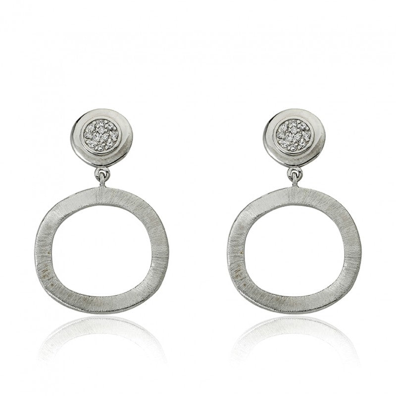 ARCTIC MIST Open Circle Dangle Earrings