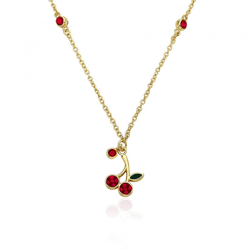 CHERRY DELIGHT Cherry Drop Necklace