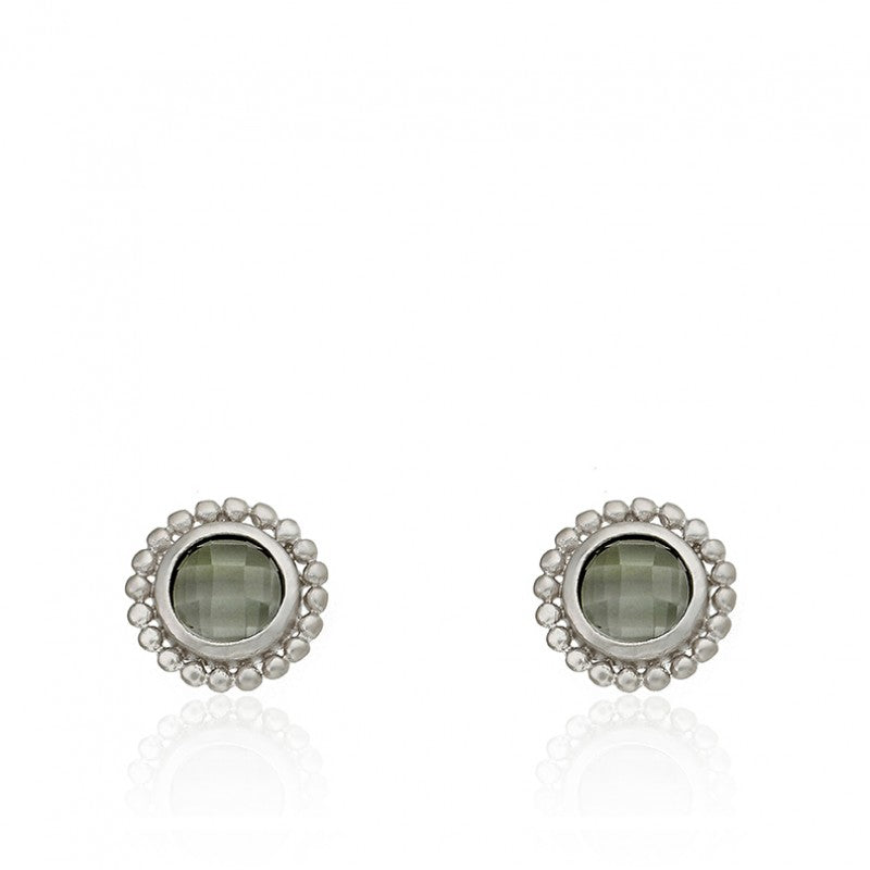ARCTIC MIST Briolet Stud Earrings