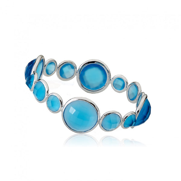 ARCTIC MIST Large Round Stones Bangle