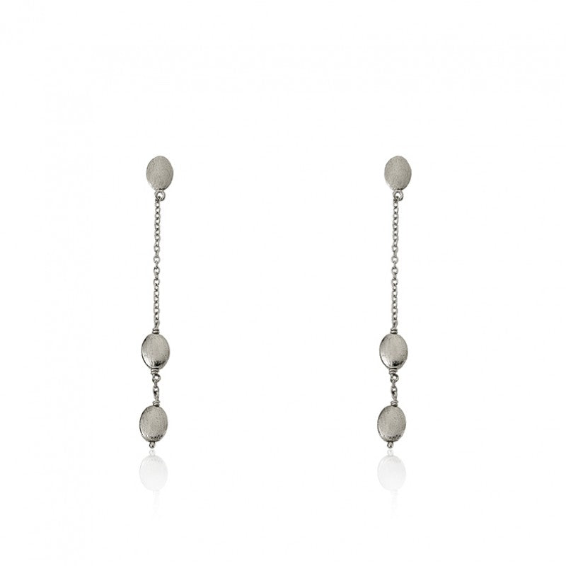 ARCTIC MIST 3 Brushed Nuggets Earrings