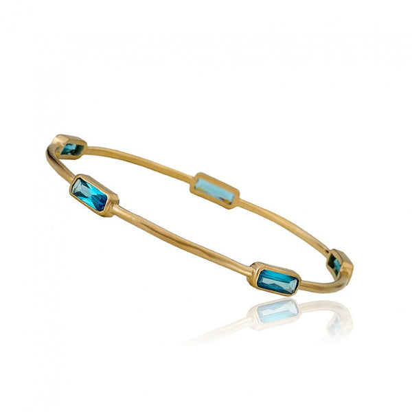 ARCTIC MIST Rectangle Stones Bangle