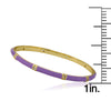 Enamel Bangle With Cubic Zirconium Spacers