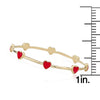 STACKABLE STUNNERS Enamel Hearts Dainty Bangle