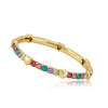 Thick Rainbow Bangle with Hearts