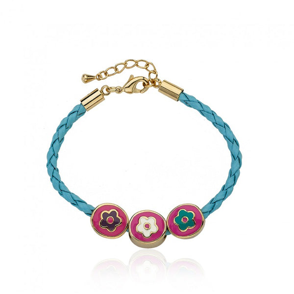 JEWEL BANDZ Braided Flower Slide Bracelet