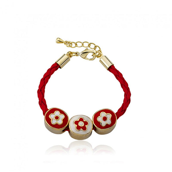 JEWEL BANDZ Red Braided Slide Bracelet
