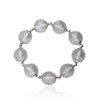 Mesh Over Lucite Ball Stretch Bracelet