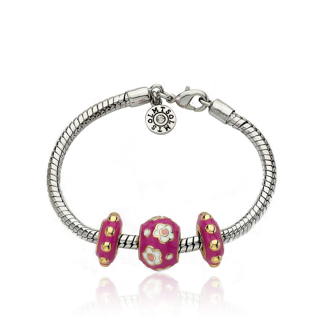 SUPERSTAR CUTIE Hot Pink Three Slide Bracelet