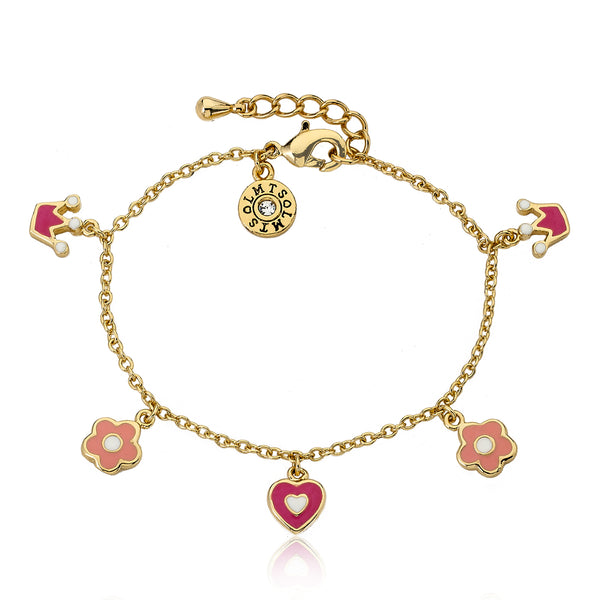 ROCKING ROYALTY Pink Crowns Bracelet