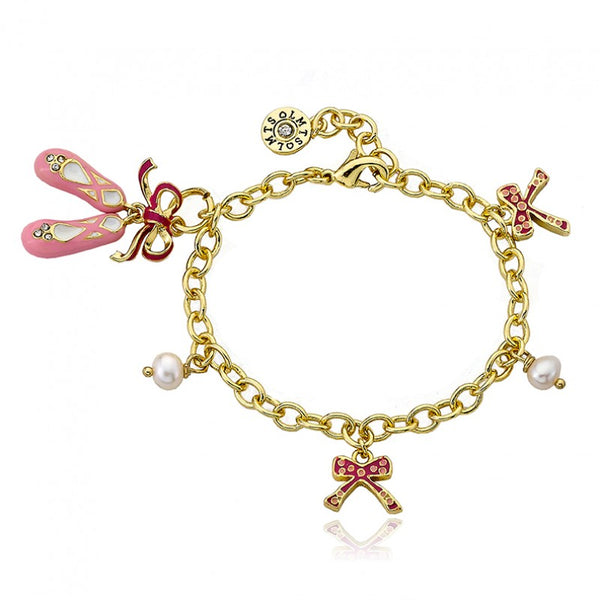 BALLET BEAUTY Ballet Slippers and Pear Bracelet