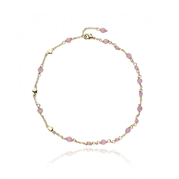 CAT EYE Double Stranded Bracelet with Pink Cat Eye Balls