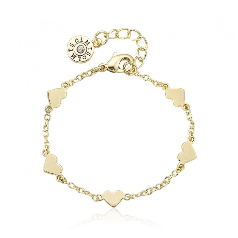 LITTLE MISS FLOWER GIRL Heart Station Bracelet
