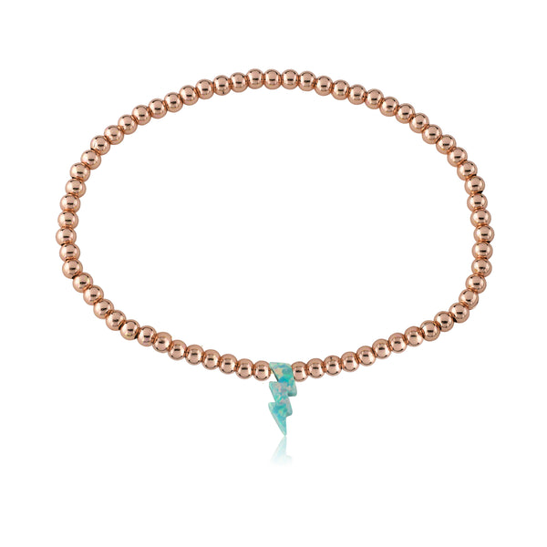 Glitter Girl Pink Opal Lightening Bolt Bracelet