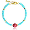 Mileez Crystal Center Bead Bracelet