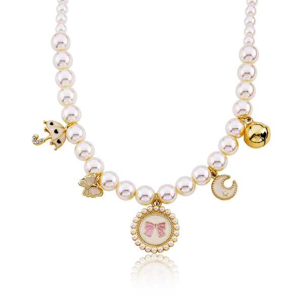 Pearl Charm Pet Necklace