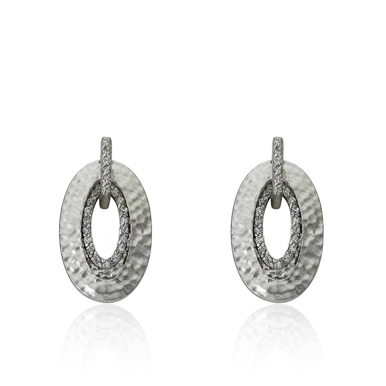 Retro Hammered Teardrop In Teardrop Earring