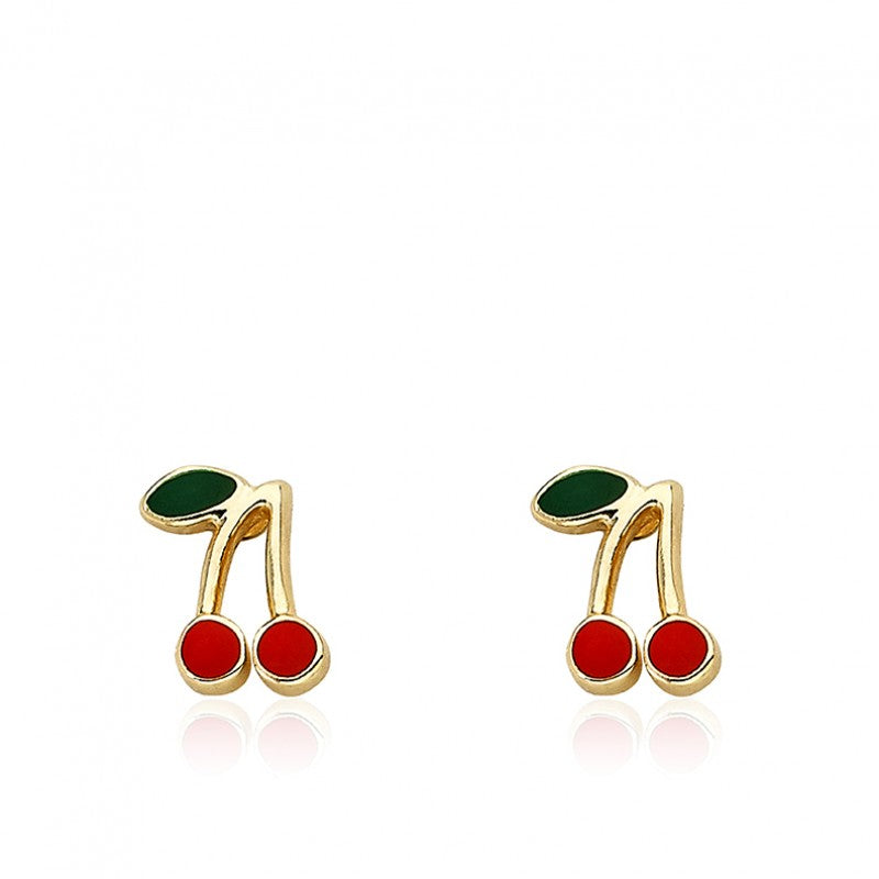 CHERRY CHIC Cherry Stud Earrings