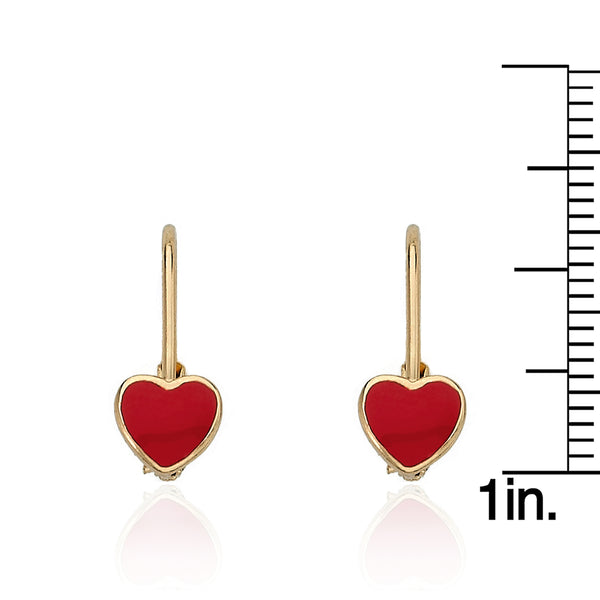 I LOVE MY JEWELS Enamel Heart Leverback Earring