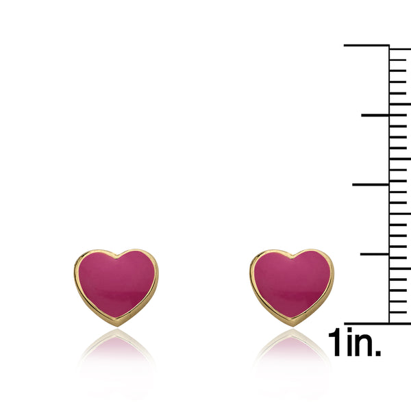 I LOVE MY JEWELS Enamel Heart Stud Earring