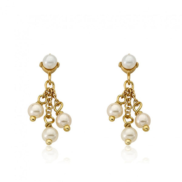 LITTLE MISS FLOWER GIRL Pearl Cluster Dangle Earring
