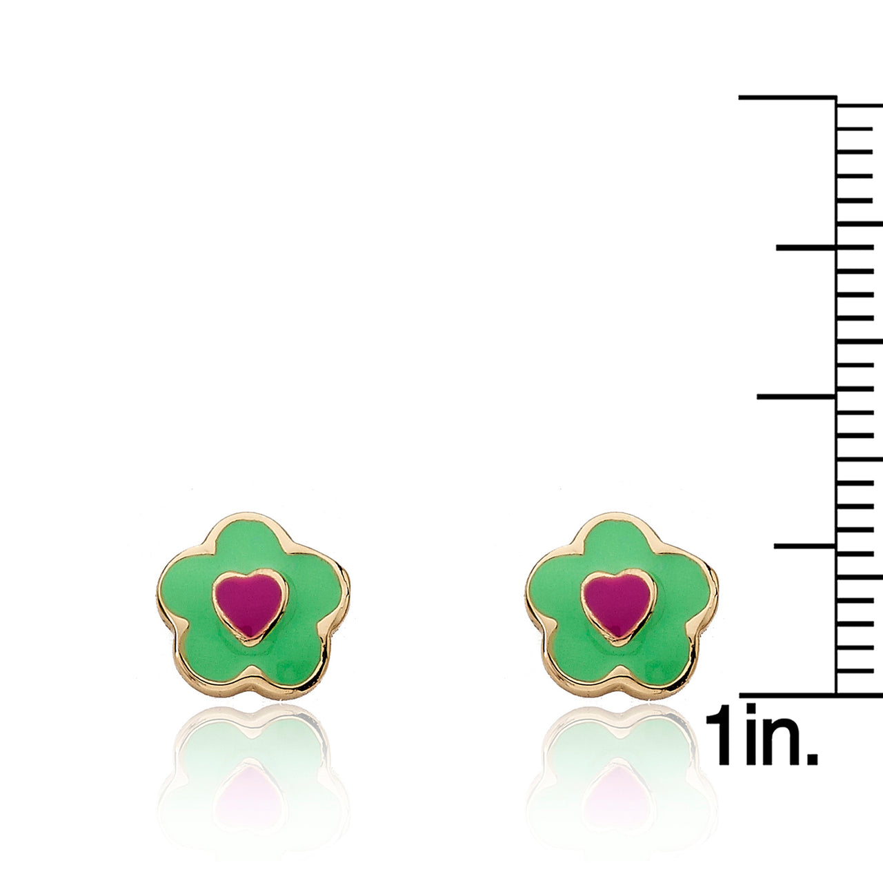 FROSTED FLOWERS Heart In Flower Stud Earring