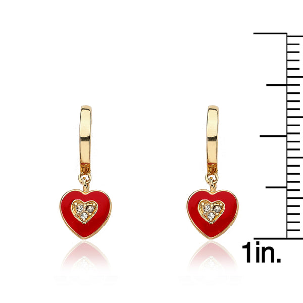 I LOVE MY JEWELS Heart Huggy Earring