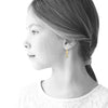 FLOWERY GLITZ Crystal Flower Circles Dangle Earrings