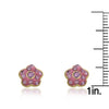 FLOWERY GLITZ Crystal Flower Earrings