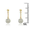 GLITZ BLITZ Long Chain Crystal Ball Earrings