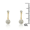 GLITZ BLITZ Crystal Long Chain Crystal Ball Earrings