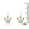 Pretty Princess Crystal Crown Earrings