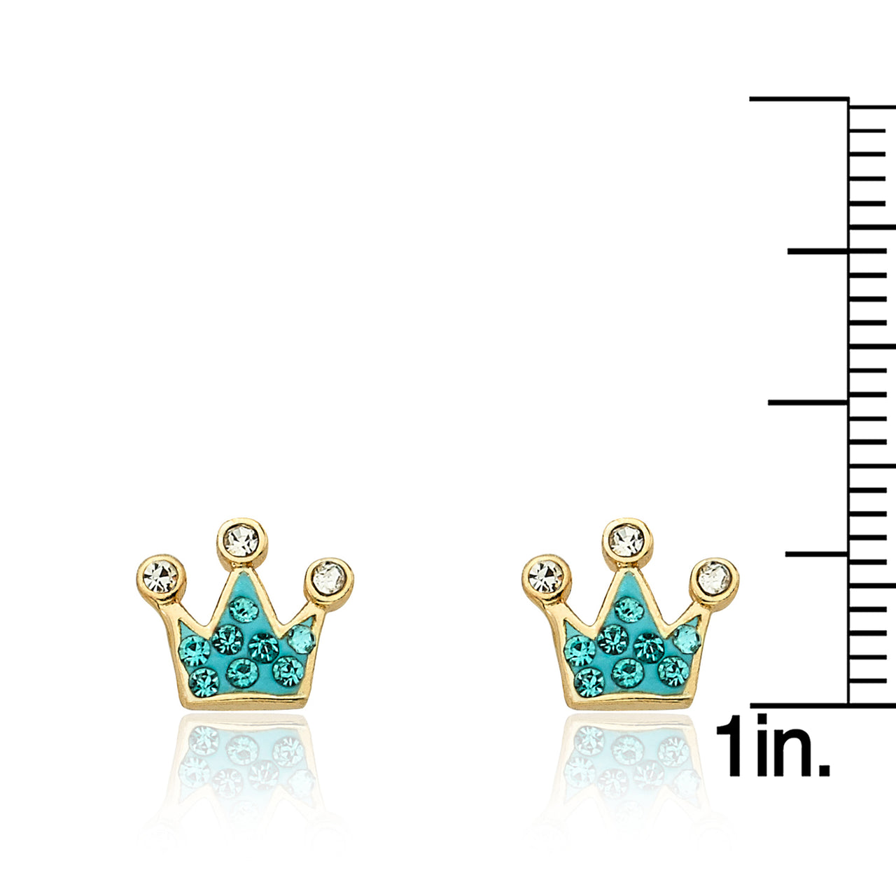 Pretty Princess Crystal Crown Earrings 2