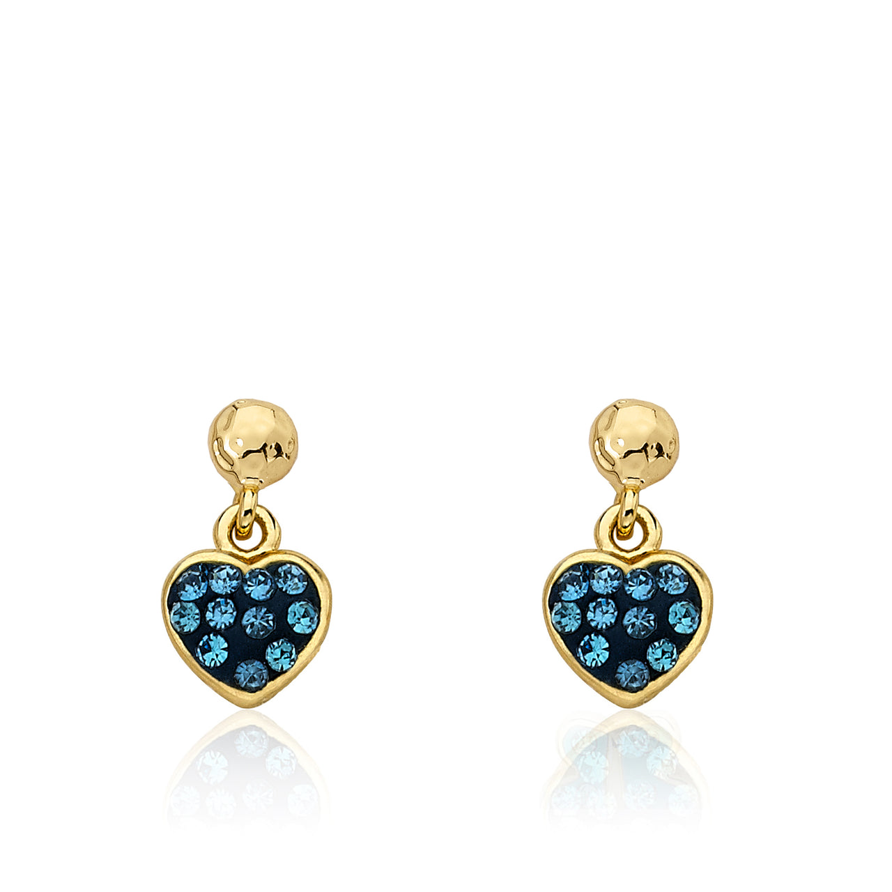 Heart Of Jewels Crystal Heart Dangle Earrings 2