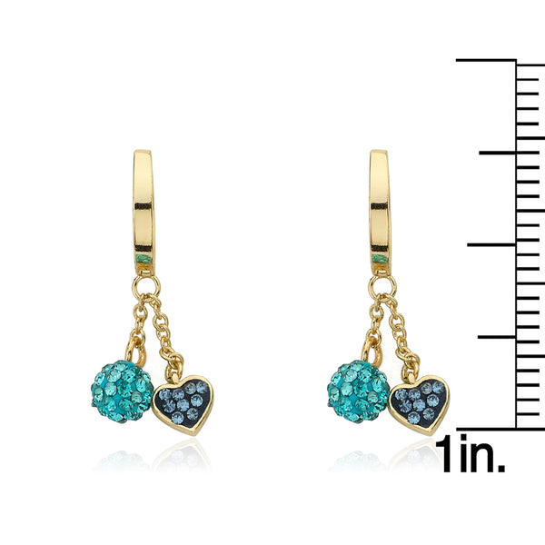Heart Of Jewels Crystal Heart & Ball Dangle Earrings