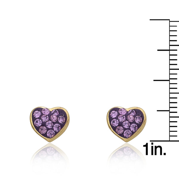 Heart Of Jewels Crystal Heart Stud Earring
