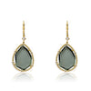 Sliced Glass Teardrop Dangle Earring