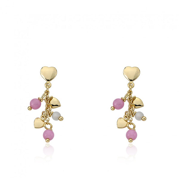 CAT EYE Pink Cat Eye Balls Earring