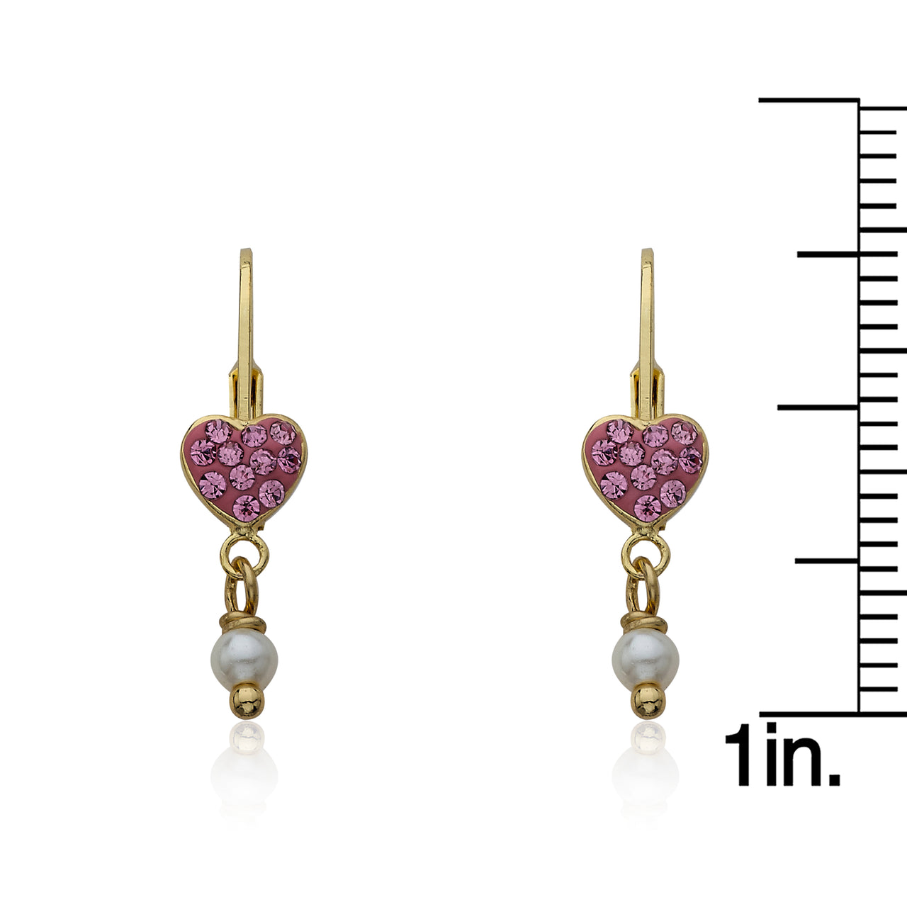 Heart Of Jewels Crystal Heart Dangle Earrings 3