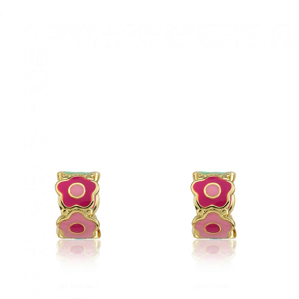 FROSTED FLOWERS Cut Out Flower Huggy Earring