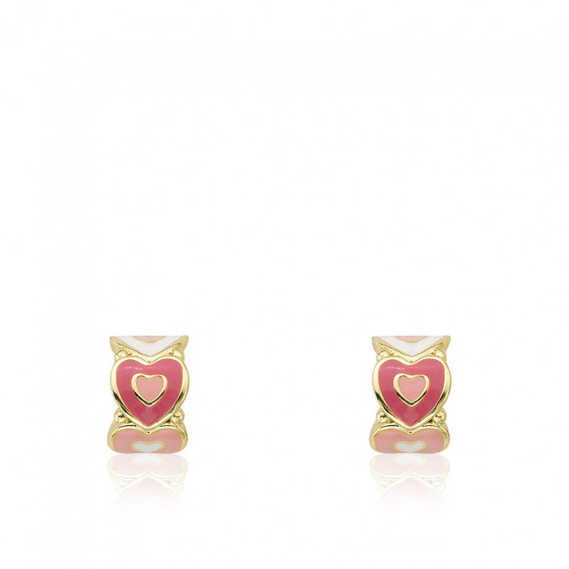 I LOVE MY JEWELS Cut Out Hearts Huggy Earring