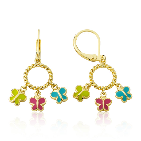 Butterfly Dangle Leverback Earring
