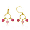 Enamel Hearts Dangle Leverback Earring