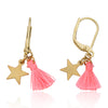 Mileez Mini Tassel & Star Dangle Leverback Earring