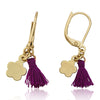 Mileez Mini Tassel & Flower Dangle Leverback Earring