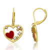 Heart Leverback Dangle Earring