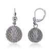 Mesh Over Lucite Ball Earring
