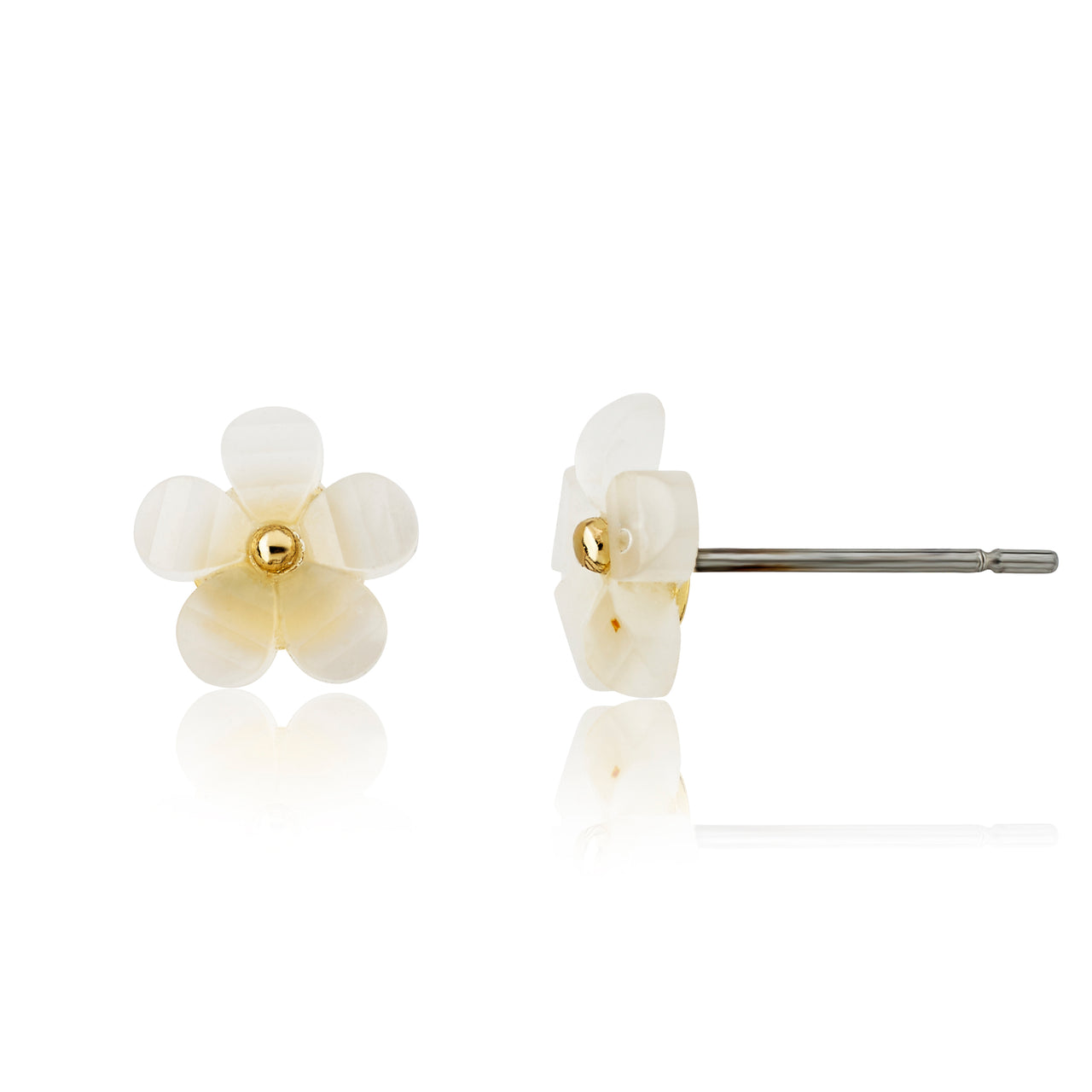 14K Gold Plated Stud Earring